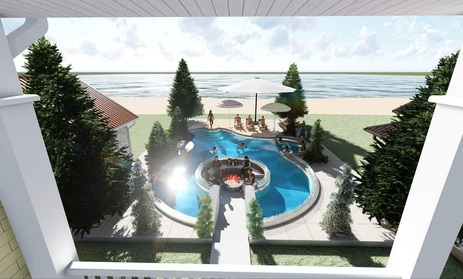Proposition n°                                        33                                      du concours                                         Do 3d render for pool in sketchup, vray,  lumion or similar softwares.