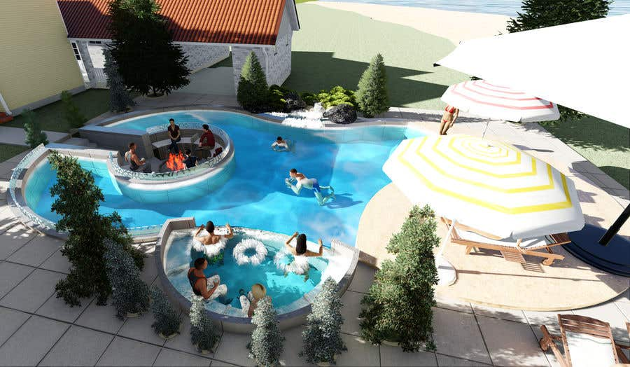 Proposition n°                                        42                                      du concours                                         Do 3d render for pool in sketchup, vray,  lumion or similar softwares.