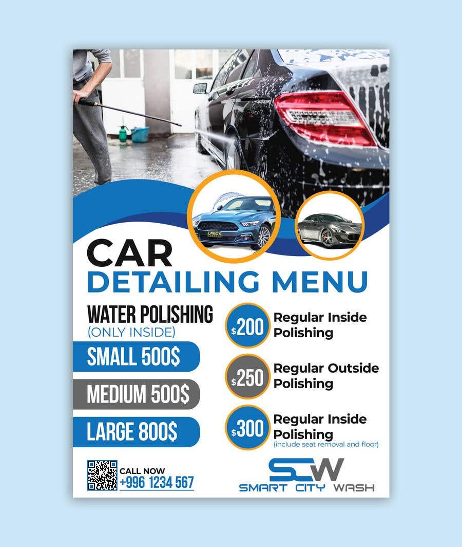 Penyertaan Peraduan #                                        16                                      untuk                                         Price Board and IG Post Design for Car Wash Shop