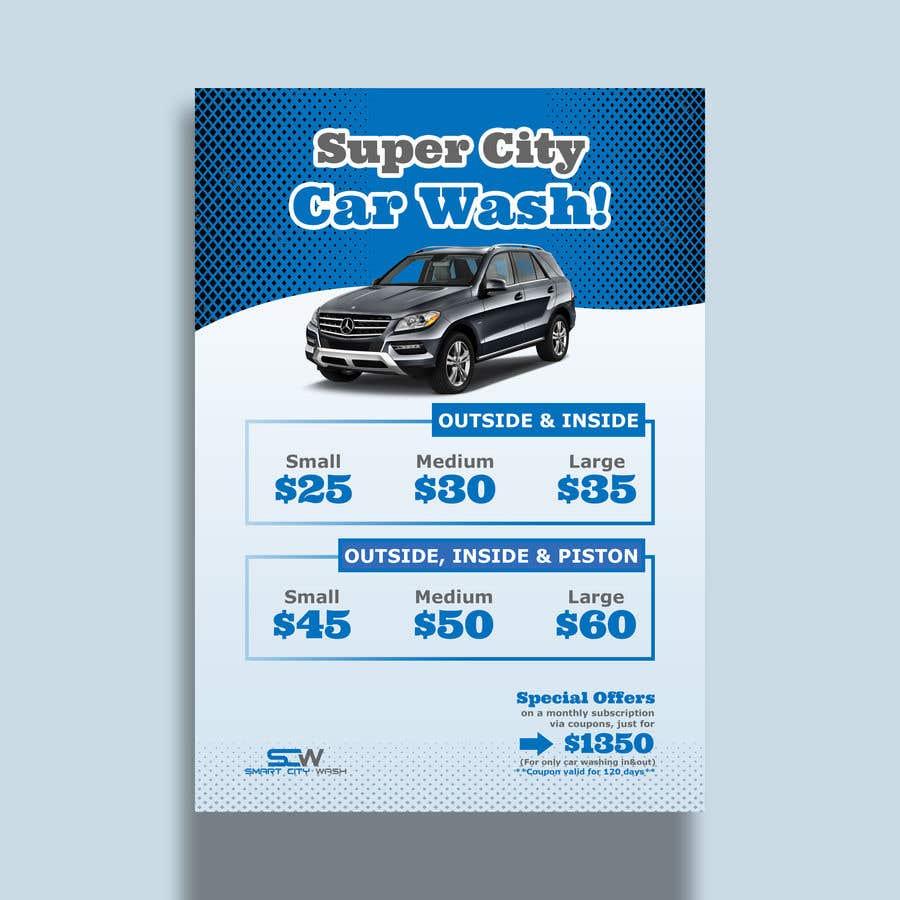 Penyertaan Peraduan #                                        14                                      untuk                                         Price Board and IG Post Design for Car Wash Shop
