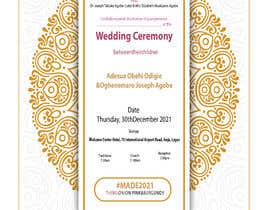 Nro 6 kilpailuun create wedding invitation card käyttäjältä amohammadabdull7