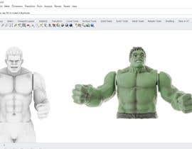 nº 3 pour Hulk 3d Model par abdullahvidinlio