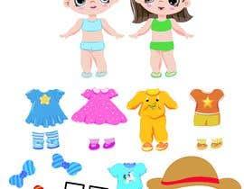 Nro 44 kilpailuun Illustration of cute little girls with outfit käyttäjältä andybudhi