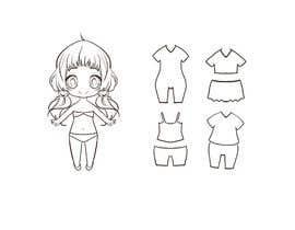 Nro 11 kilpailuun Illustration of cute little girls with outfit käyttäjältä berragzakariae