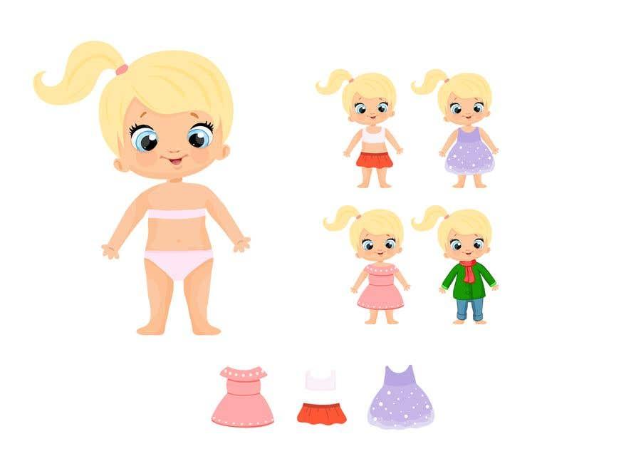 Penyertaan Peraduan #                                        29                                      untuk                                         Illustration of cute little girls with outfit