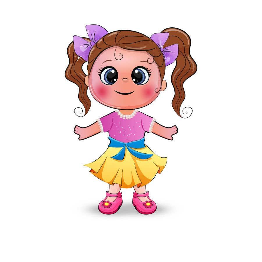 Penyertaan Peraduan #                                        32                                      untuk                                         Illustration of cute little girls with outfit
