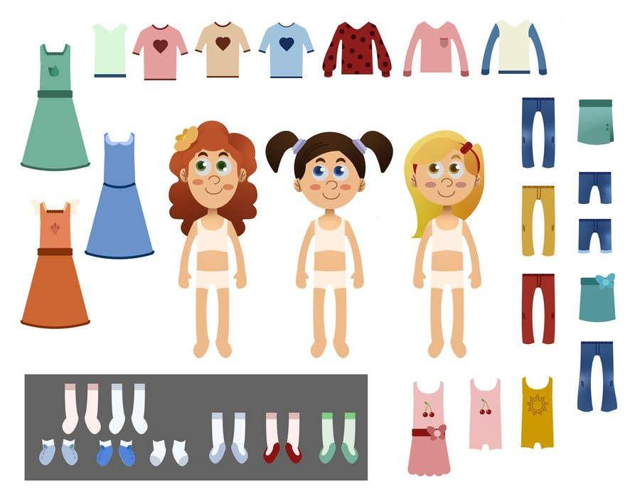 Penyertaan Peraduan #                                        31                                      untuk                                         Illustration of cute little girls with outfit