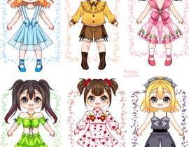 Nro 43 kilpailuun Illustration of cute little girls with outfit käyttäjältä Miyako2000