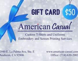 #25 untuk redesign my gift card oleh rifattasneem