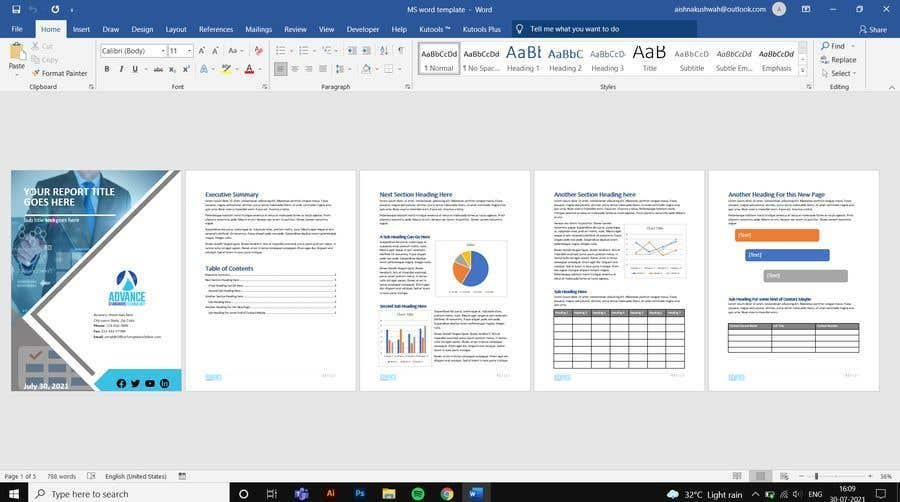 Konkurrenceindlæg #                                        35                                      for                                         Creating MS word template for IT consulting services