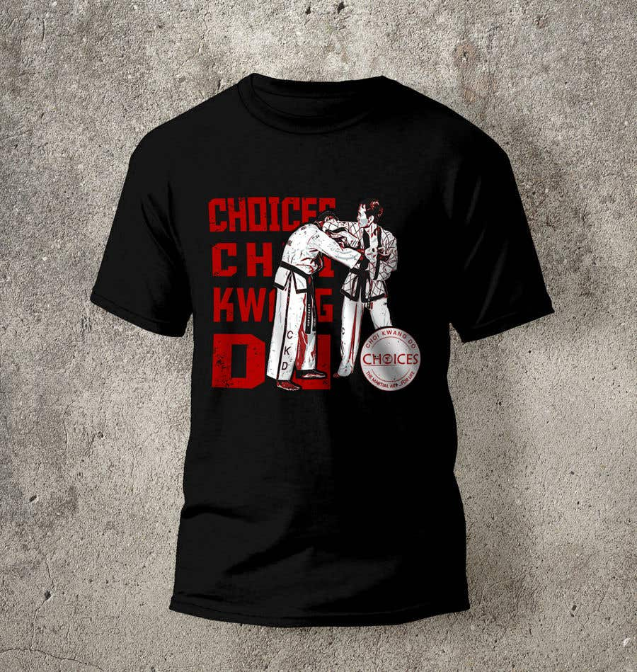 "Kilpailutyö #                                        9                                      kilpailussa                                         Design a ""street wear"" T-shirt for my Martial Art school"