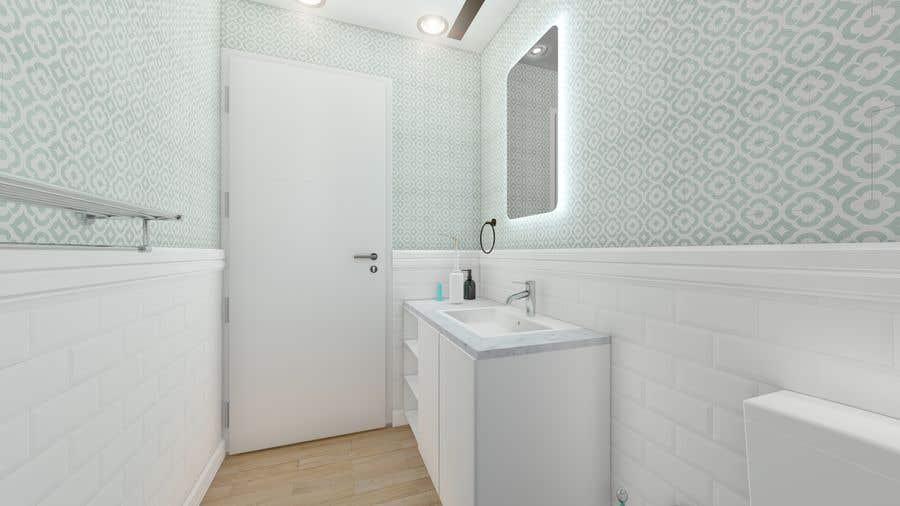 Bài tham dự cuộc thi #                                        19                                      cho                                         Half bath interior design in 3d - coastal transitional design style