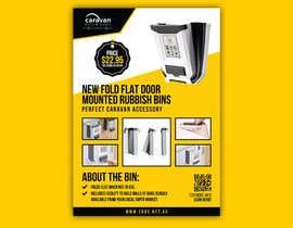 Nro 138 kilpailuun PRODUCT FLYER FOR NEW FOLD FLAT DOOR MOUNTED RUBBISH BINS käyttäjältä emamul09