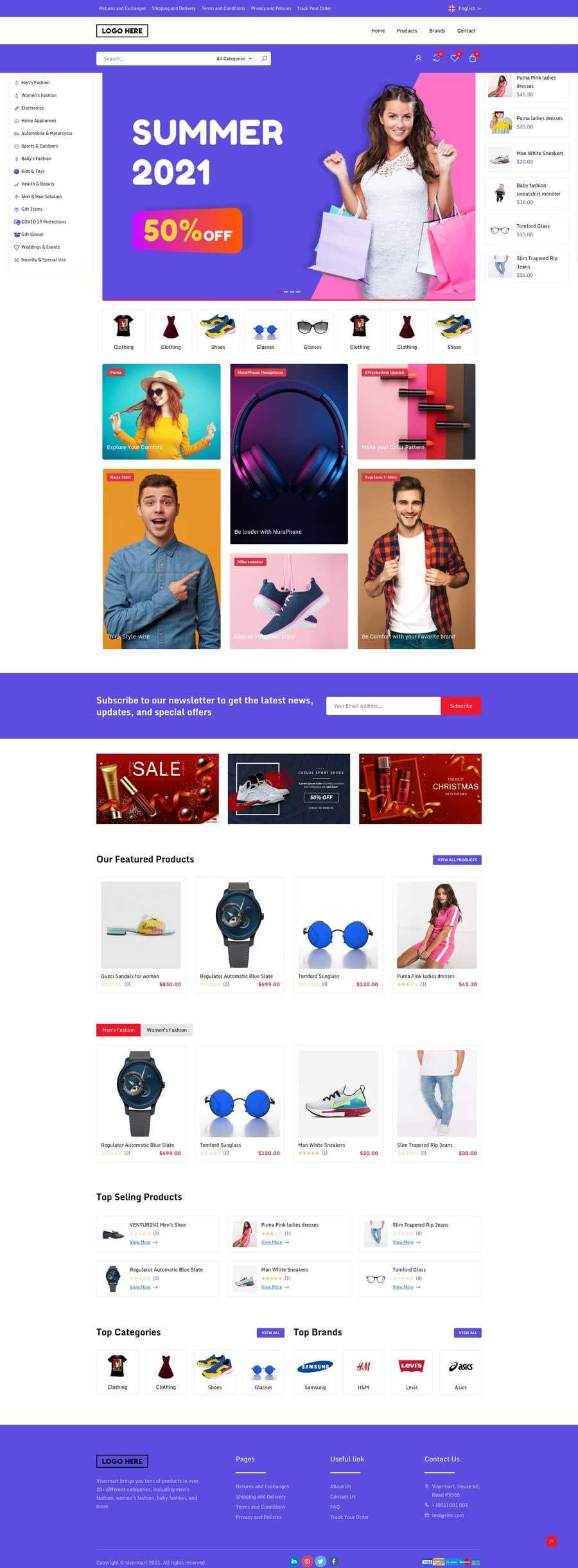 Kilpailutyö #                                        57                                      kilpailussa                                         Create a website (online store e-Commerce) ***NO WORDPRESS ALLOWED***