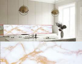 Nro 27 kilpailuun Create realistic visualisation of kitchen glass splashback with gold effect käyttäjältä shaba5566