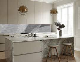 Nro 43 kilpailuun Create realistic visualisation of kitchen glass splashback with gold effect käyttäjältä lupaya9