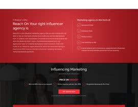 Nro 66 kilpailuun Build new landing page for influencer marketing services käyttäjältä saidesigner87