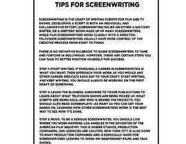 #32 cho Screeplay writer needed to develop knots bởi ArtistGeek