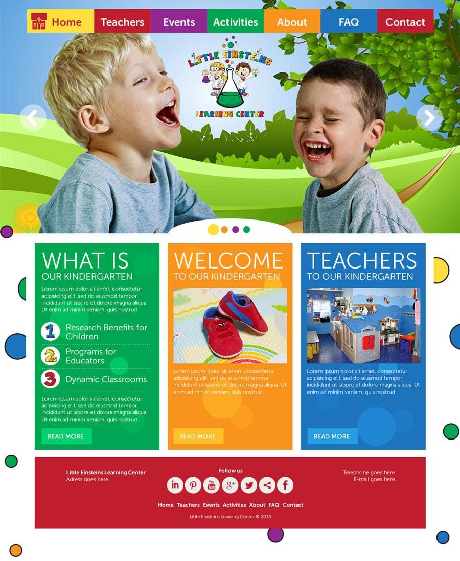 Inscrição nº                                         24                                      do Concurso para                                         Design a Website Mockup for Little Einstein's Learning Center (Daycare)