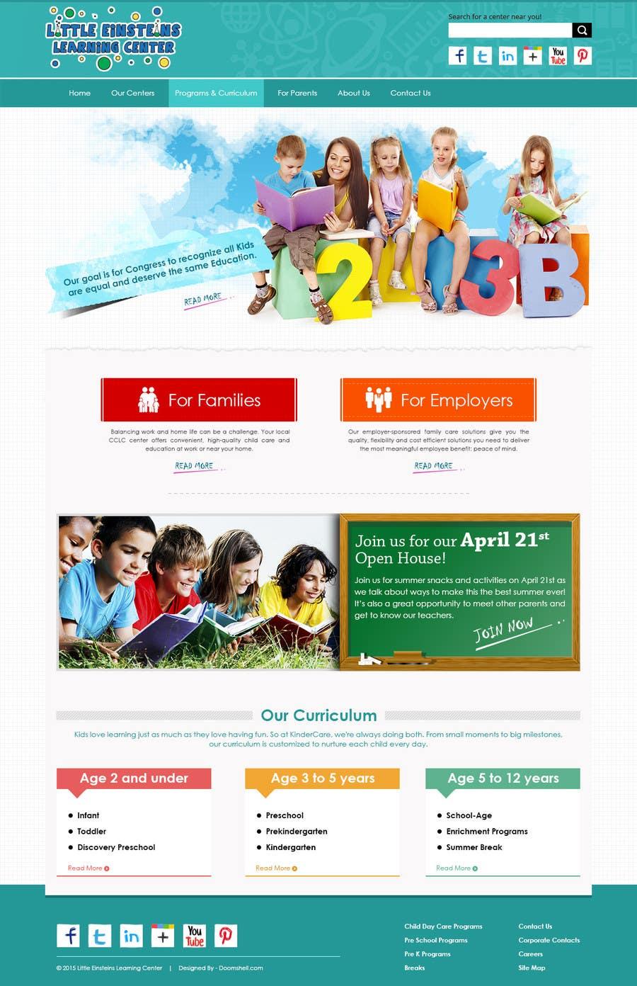 Inscrição nº                                         6                                      do Concurso para                                         Design a Website Mockup for Little Einstein's Learning Center (Daycare)