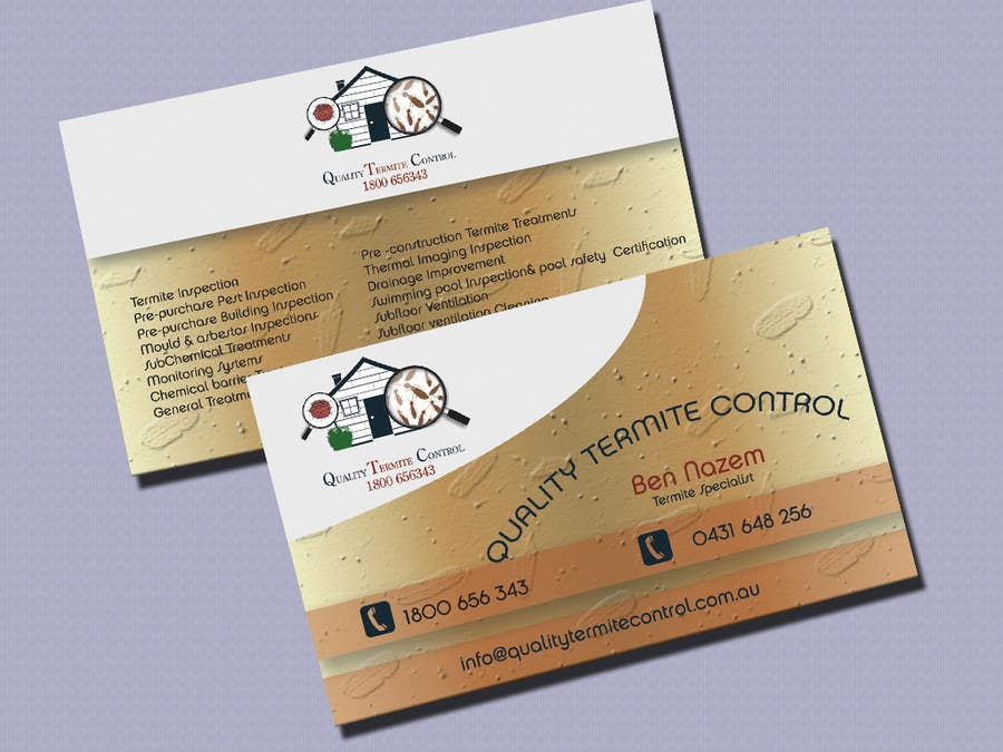 Entry #17 by kvd05 for Design some Business Cards for a Pest Control ...