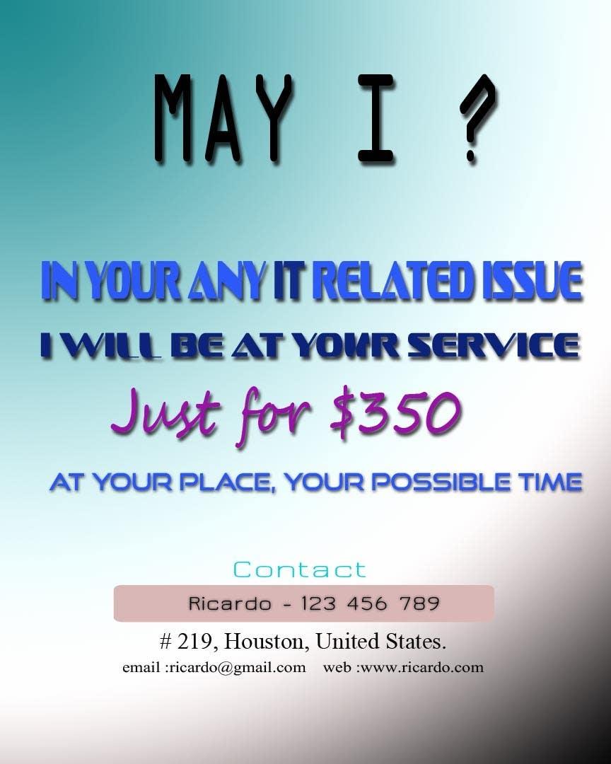 Penyertaan Peraduan #15 untuk Design advertisement for IT onsite service.