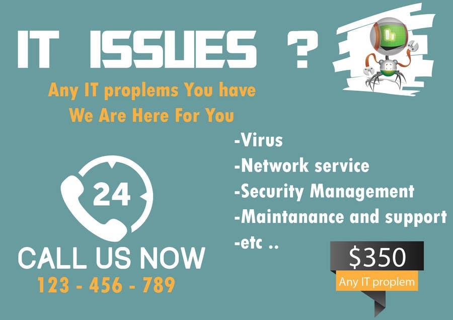 Penyertaan Peraduan #19 untuk Design advertisement for IT onsite service.
