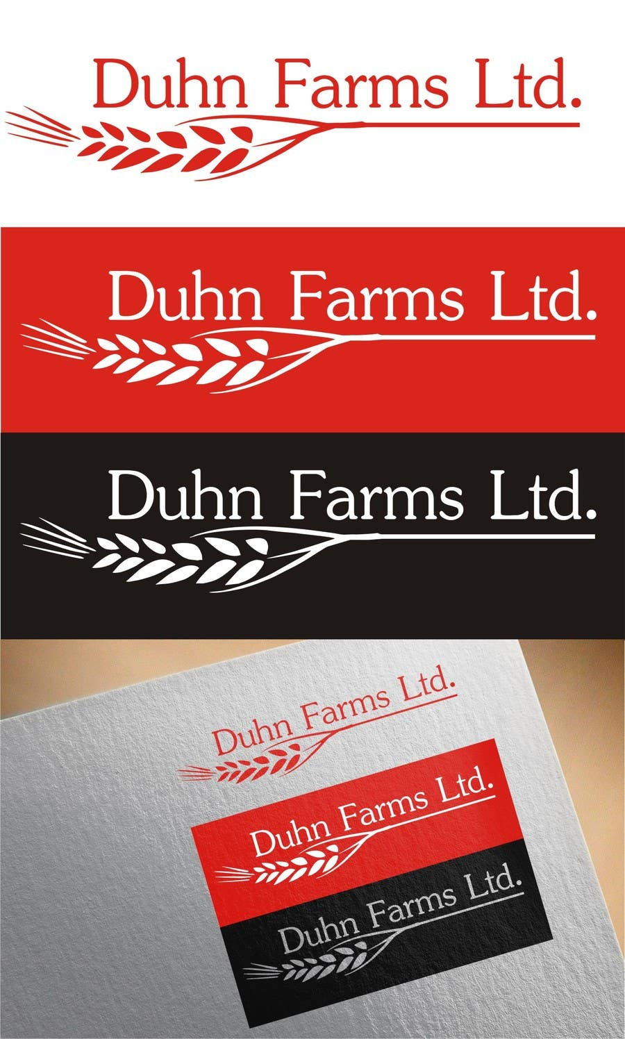 Contest Entry #                                        14                                      for                                         Duhn Farms Ltd