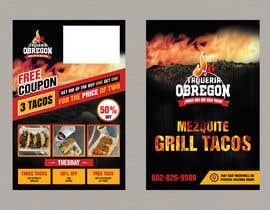 Nro 377 kilpailuun Build me a flyer, buy one get one free coupons.  Three tacos for the price of two.  Taco Tuesday 50%. käyttäjältä SandipBala