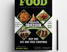 Nro 371 kilpailuun Build me a flyer, buy one get one free coupons.  Three tacos for the price of two.  Taco Tuesday 50%. käyttäjältä sharifulislam405