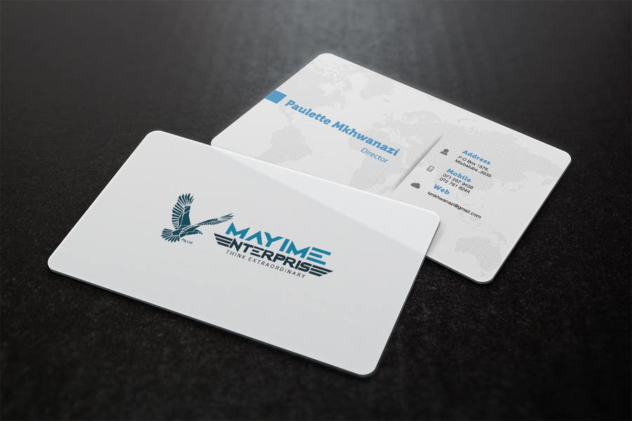 Contest Entry #                                        5                                      for                                         Design a business card for a holding company