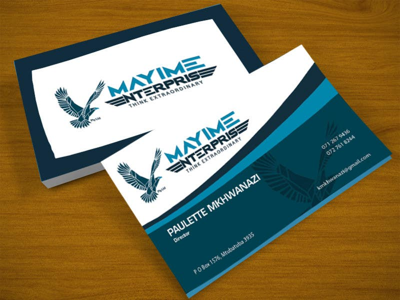 Contest Entry #                                        9                                      for                                         Design a business card for a holding company