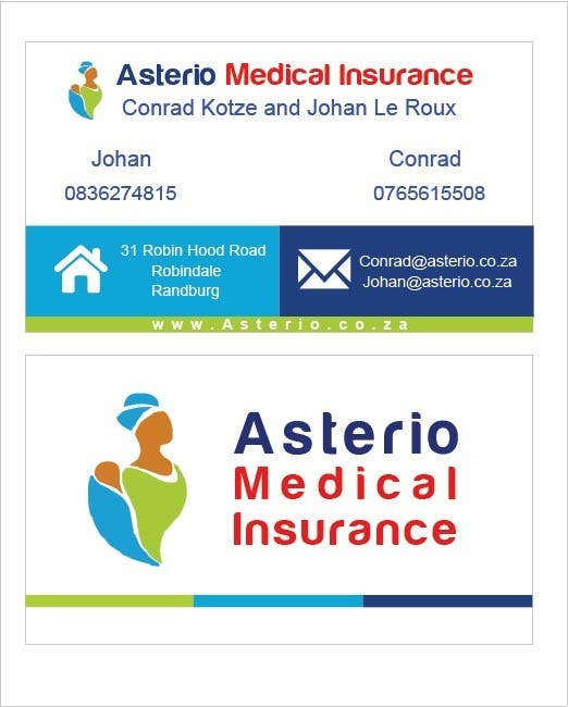 Proposition n°                                        6                                      du concours                                         Design a letterhead and business cards for a medical insurance company