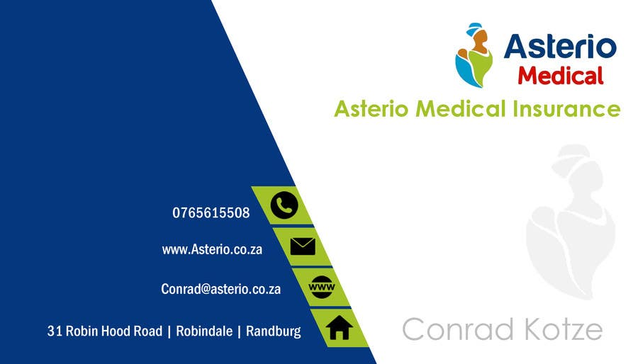 Proposition n°                                        10                                      du concours                                         Design a letterhead and business cards for a medical insurance company