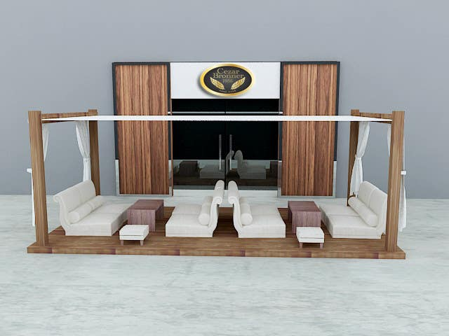 Contest Entry #                                        3                                      for                                         Front face render of a Cigar Lounge.