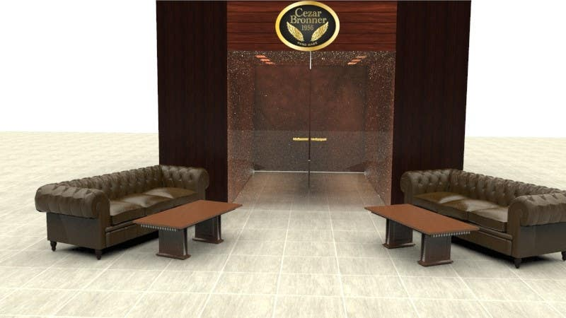 Contest Entry #                                        4                                      for                                         Front face render of a Cigar Lounge.
