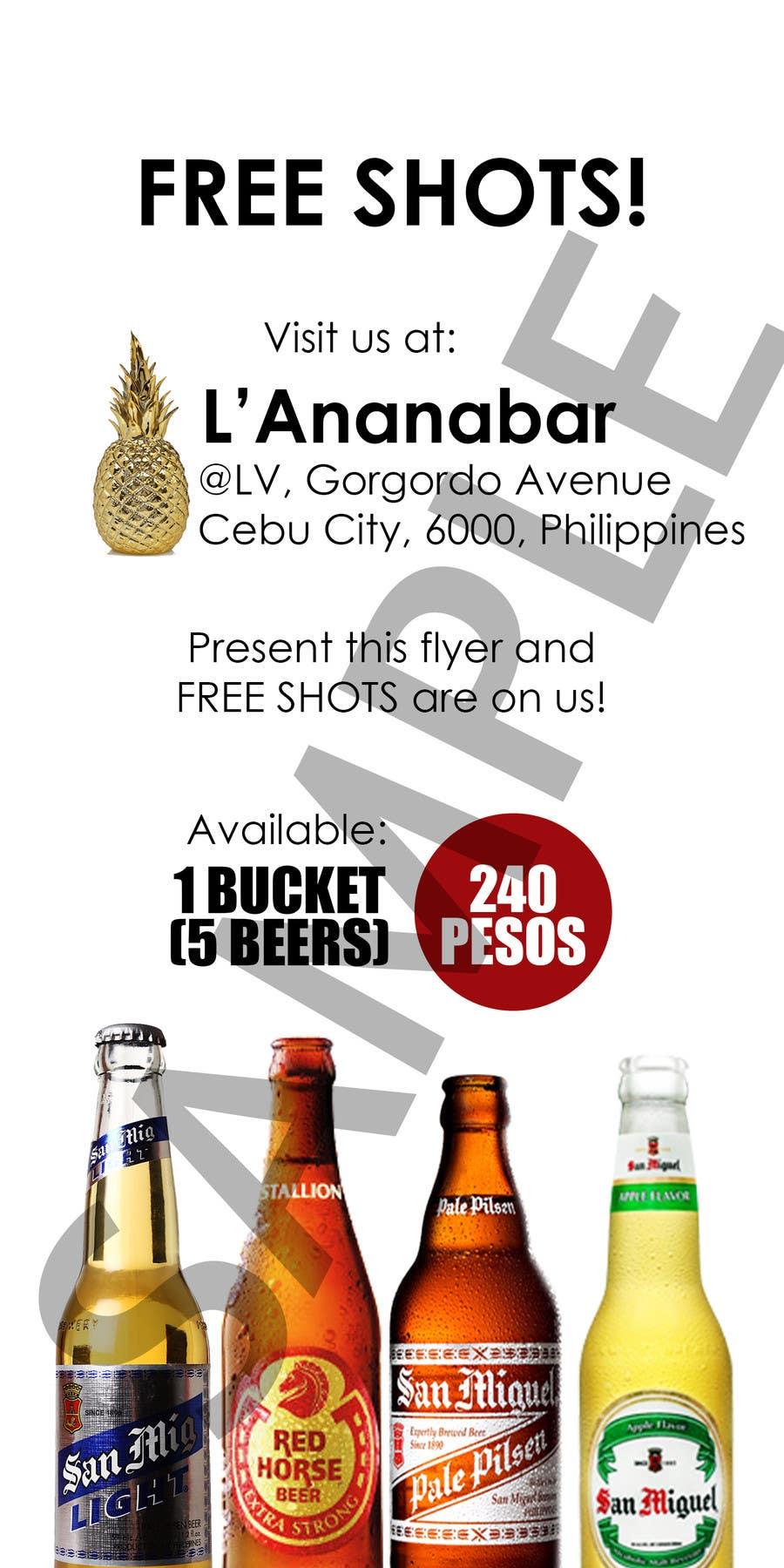 Konkurrenceindlæg #2 for Design a Flyer for a bar