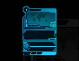 #34 para Card frame design for a sci-fi card game de ariscroot21