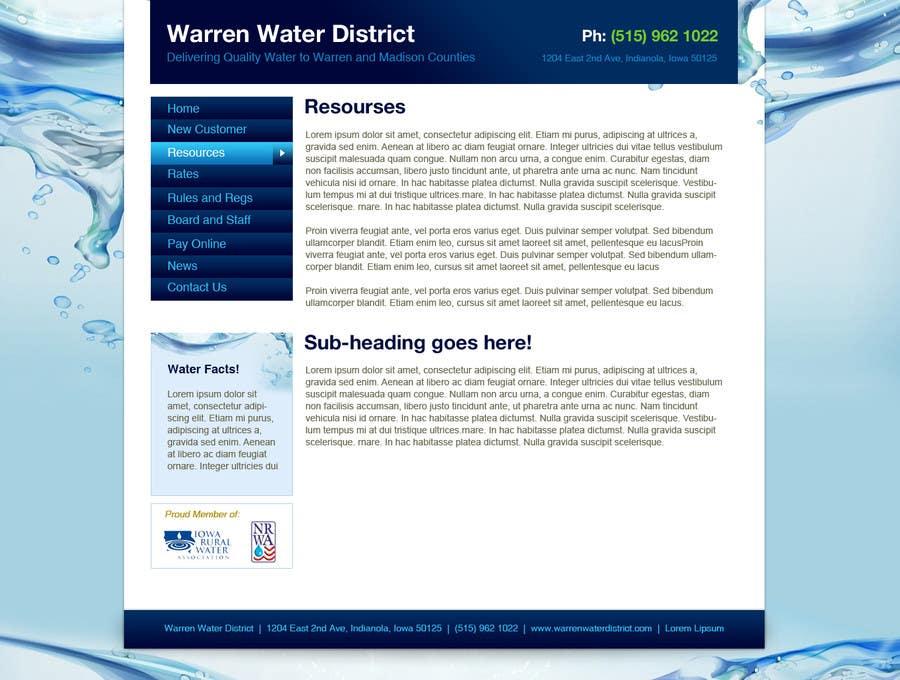 Penyertaan Peraduan #5 untuk Design a Website Mockup for Rural Water Company
