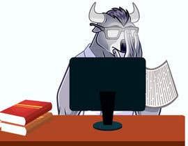 nº 6 pour Bison typing on a computer graphic par zakariasadik060