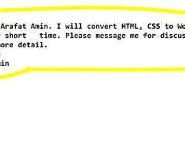 #19 for Converting CSS script website into Wordpress - 14/09/2021 03:26 EDT af arafatamin913