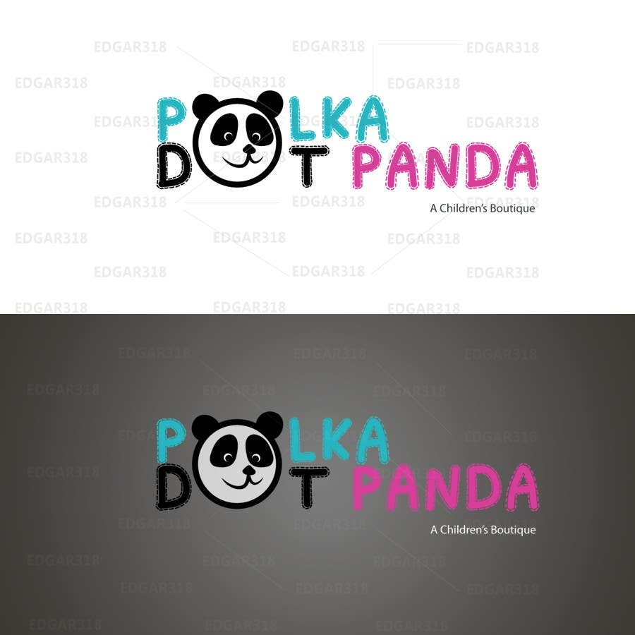 #94 for Design a Logo for a new children's clothes website - Polka Dot Panda by edgar318