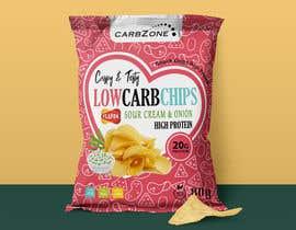 Nro 513 kilpailuun Design a Low Carb High Protein Chips Bag käyttäjältä Adreyat08
