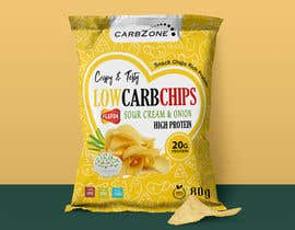 Nro 515 kilpailuun Design a Low Carb High Protein Chips Bag käyttäjältä Adreyat08