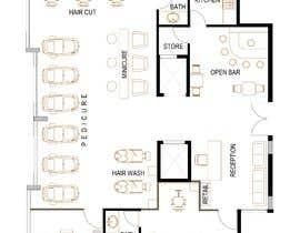 nº 12 pour Beauty Salon interior layout & furniture plan by autocad par SsArchInt