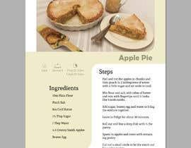 Nro 21 kilpailuun Modern Country Farmhouse style Recipie book - Sample design style of recipie pages käyttäjältä Sandipan01