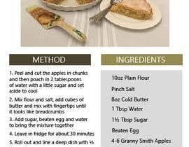 Nro 26 kilpailuun Modern Country Farmhouse style Recipie book - Sample design style of recipie pages käyttäjältä T4W533F