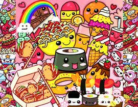 #39 for Kawaii Anime Sushi Food Banner Needed HIgh res by shorna99