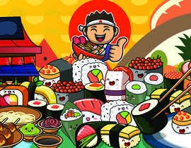 #38 for Kawaii Anime Sushi Food Banner Needed HIgh res by goelshivi