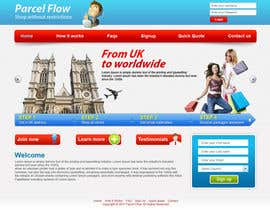 #22 untuk Website Design is needed for a parcel forwarding business in the uk oleh tania06